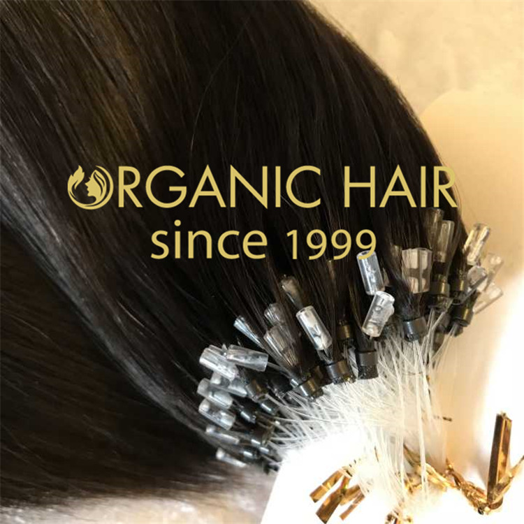 Black color, Top Quality Virgin 100% Human hair 1gram/strand micro ring hair extensions A35